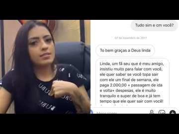 """MC Mirella divulga vídeo em resposta a jovem que a acusou de aliciar para prostituição: """"não mexeu só comigo"""""""