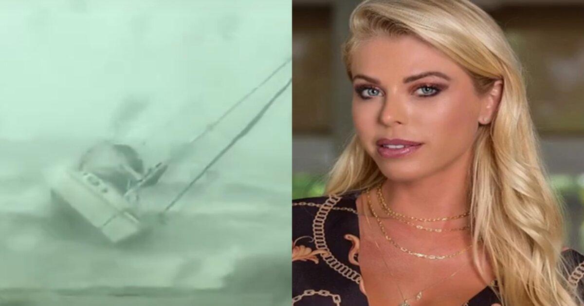 Modelo Caroline Bittencourt, sofre acidente de barco e desaparece durante tempestade