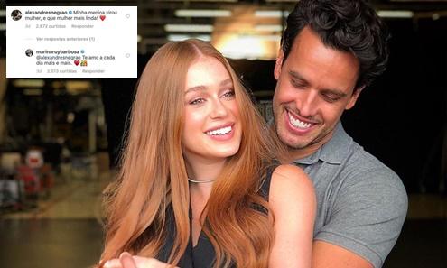 Marina Ruy Barbosa pode estar grávida de gêmeos e casal enlouquece seguidores com declaração