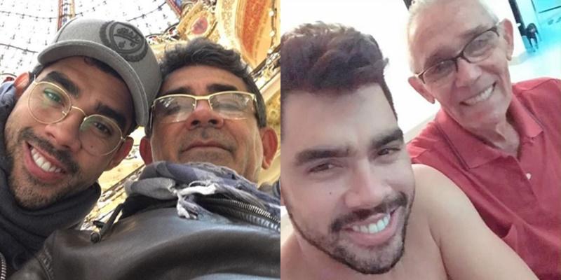 """Pai de Gabriel Diniz emociona com homenagem ao filho e ao pai: """"Homens de extrema qualidade"""""""