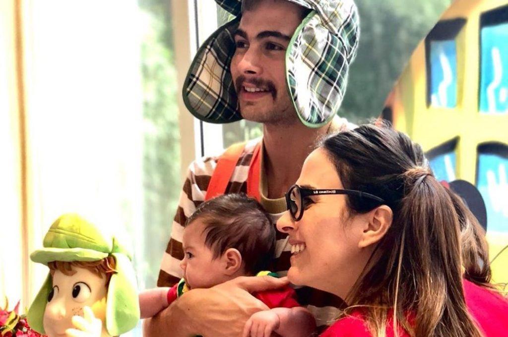 Tatá Werneck e Rafael Vitti celebram 2 meses da filha, Clara Maria, com festinha decorada no tema, 'Chaves'