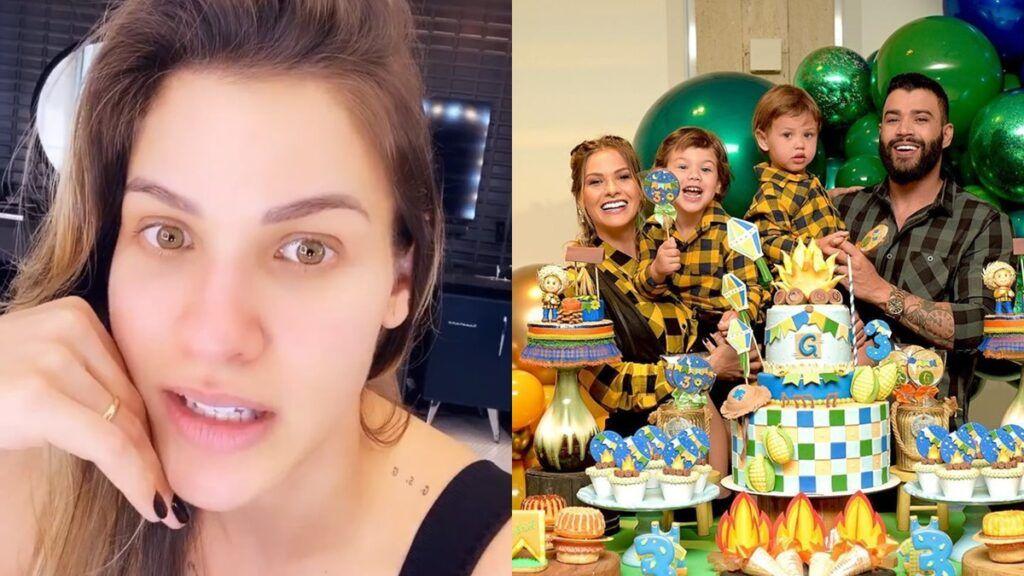 """Após passar dias longe das redes sociais, Andressa Suita justifica: """"Tirei pra ficar com a minha família"""""""
