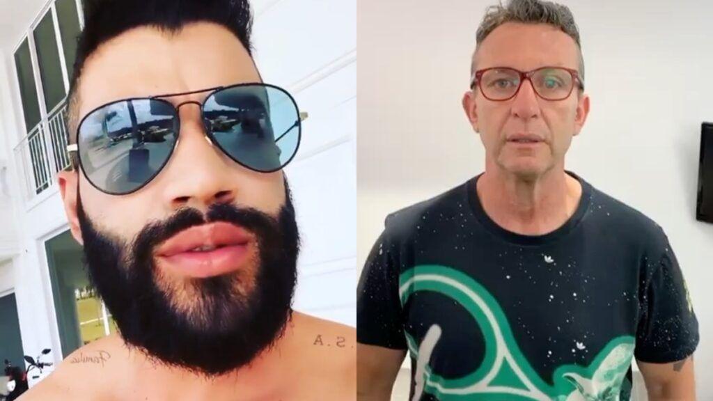 """Craque Neto enche a bola de Gusttavo Lima ao comentar vídeo do sertanejo: """"Você é o maior de todos"""""""