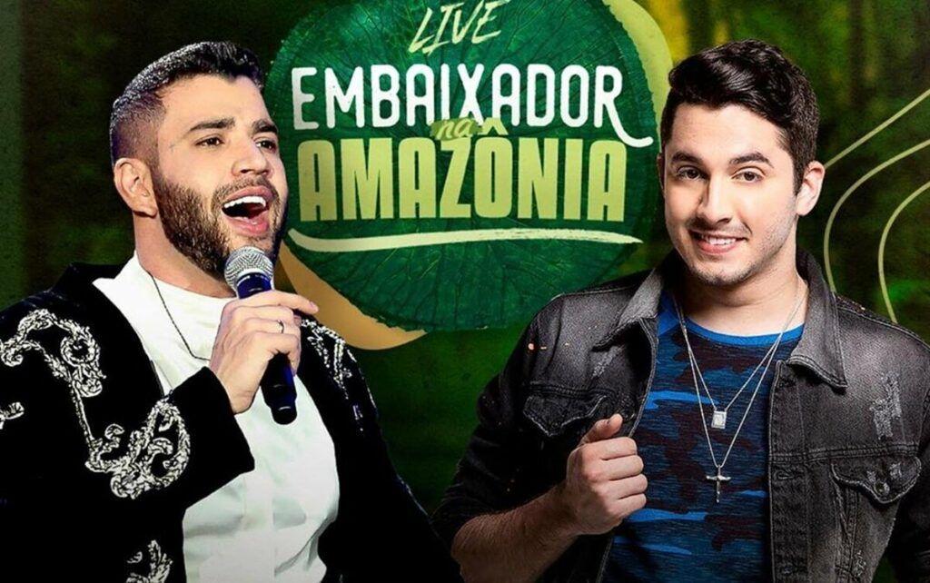 """Fãs demonstram expectativa para live de Gusttavo Lima e Jonas Esticado na Amazônia: """"Não vou perder"""""""