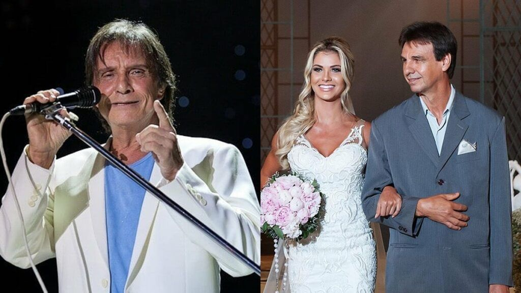 Após foto de casamento, fã de Andressa Suita compara pai da modelo ao Rei Roberto Carlos