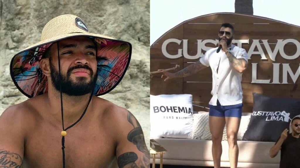 "Thiago Brava comenta look de Gusttavo Lima na live show em Pernambuco: ""Shortinho mix tope"""