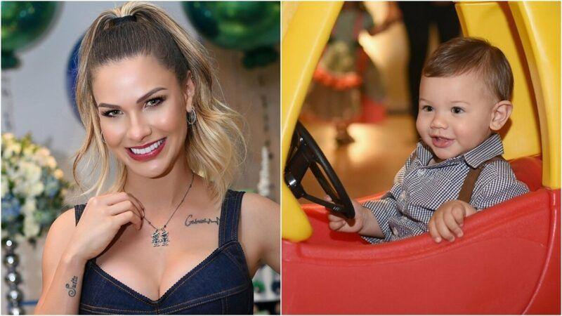 """Andressa Suita relembra foto rara da infância e fãs comentam semelhança: """"A cara de Gabriel"""""""