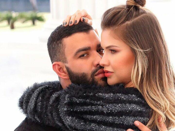 """Andressa Suita faz enquete para descobrir gosto dos fãs e elogia música nova do marido: """"Eu sou suspeita"""""""