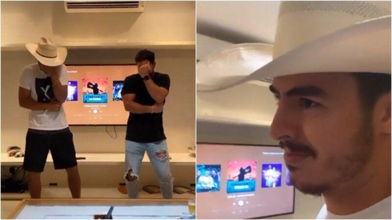 """Humorista dança música de Gusttavo Lima e se gaba por conhecer o sertanejo: """"Se quiser mostro o áudio"""""""