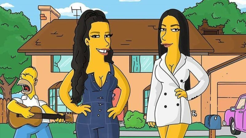 Desenhista transforma Simone e Simaria em caricatura do Simpsons e artistas se pronunciam