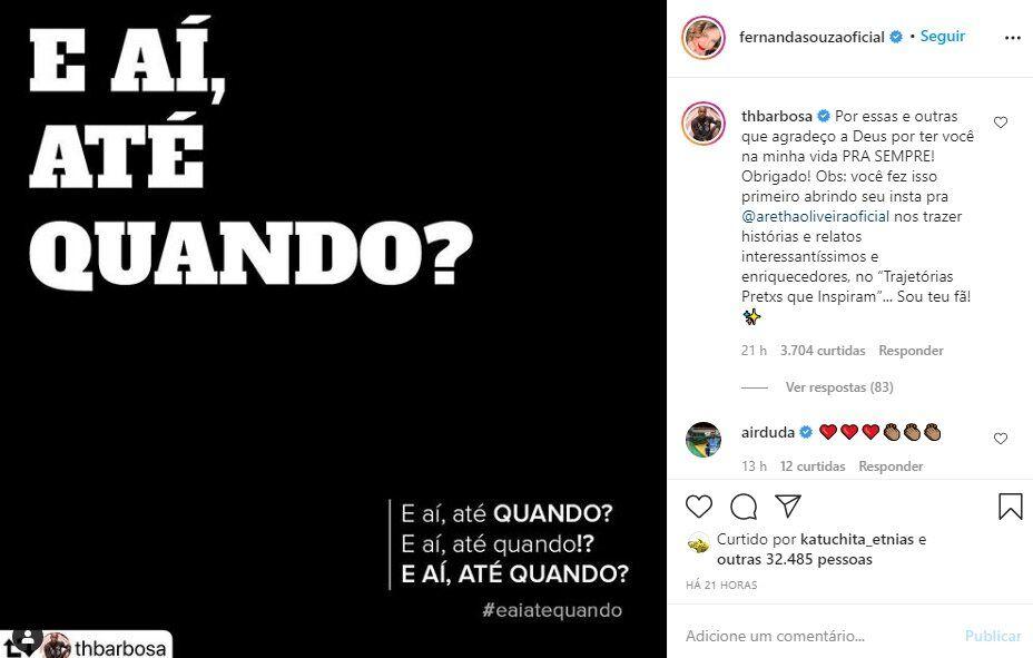 """Thiaguinho se declara para a ex-esposa, Fernanda Souza: """"Agradeço a Deus por ter você na minha vida"""""""