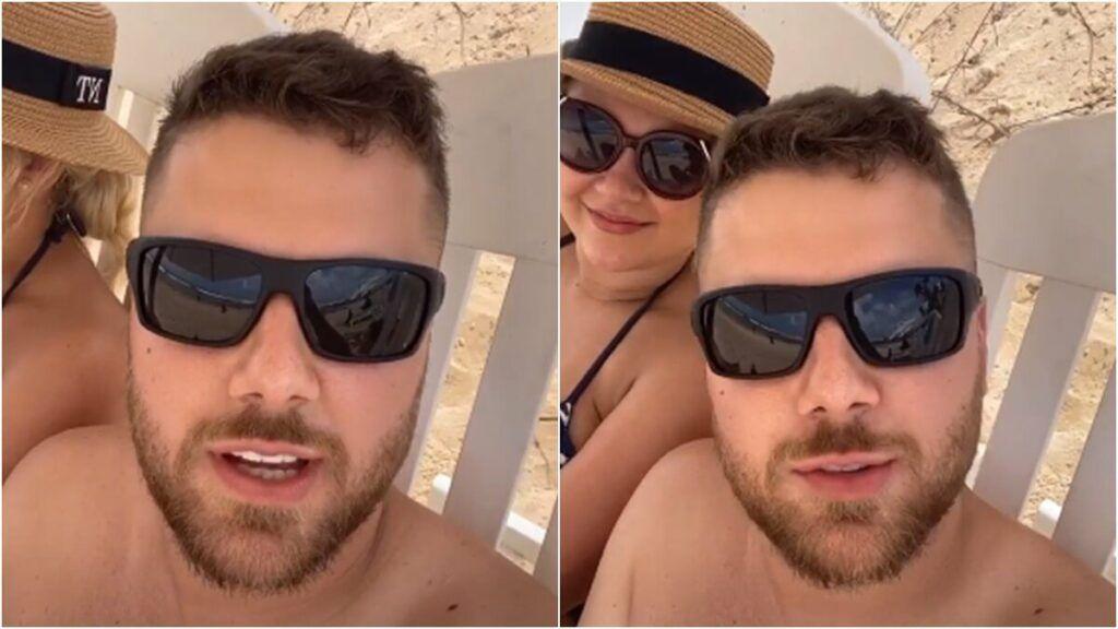 """Zé Neto se pronuncia após ser alvo de piadas na sua foto de sunga: """"Tô ficando constrangido"""""""