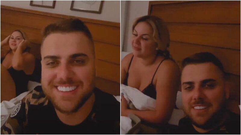 """Esposa de Zé Neto revela segredo da foto de sunga do sertanejo: """"Posição, ângulo, luz e sombra"""""""