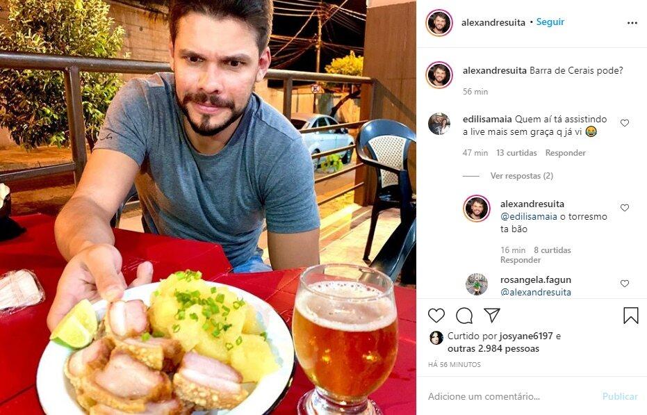 """Irmão de Andressa Suita debocha de live de Gusttavo Lima: """"O torresmo tá bão"""""""