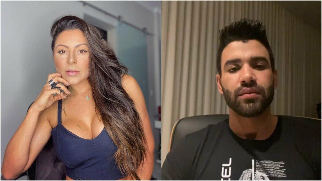 """Esposa de Thammy Miranda se revolta com discurso de Gusttavo Lima: """"Ele tá lendo esse texto"""""""