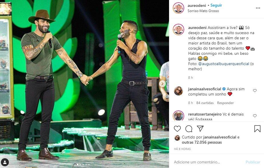 """Sósia de Gusttavo Lima se emociona após cantar com sertanejo em live: """"Nunca desista"""""""