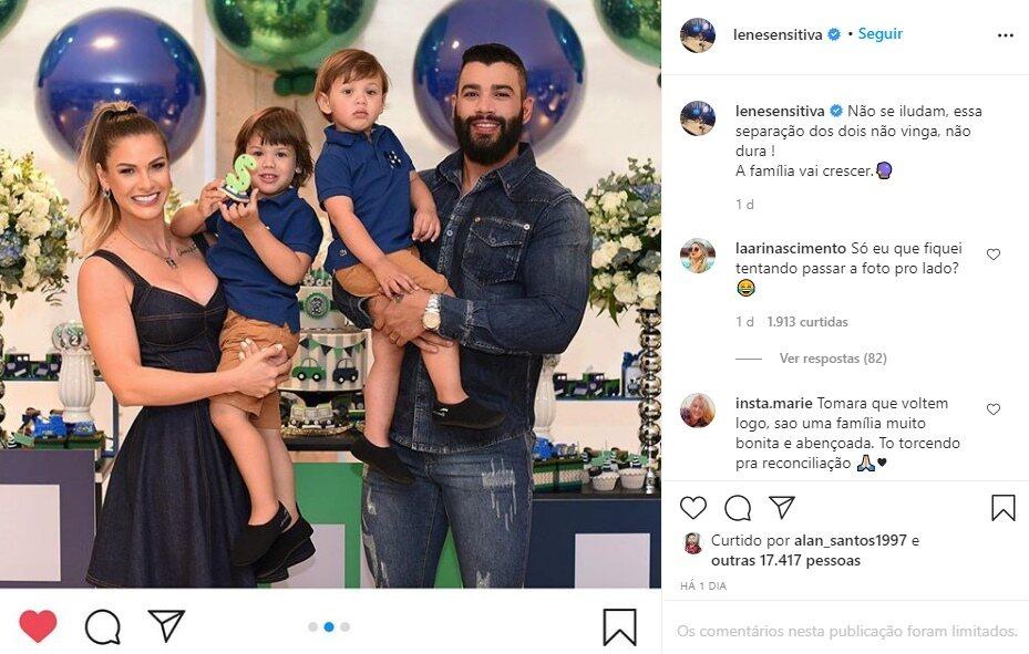 Gusttavo Lima e Andressa Suita vão reconciliar e aumentar a família em breve, diz sensitiva - F5 NOTICIA