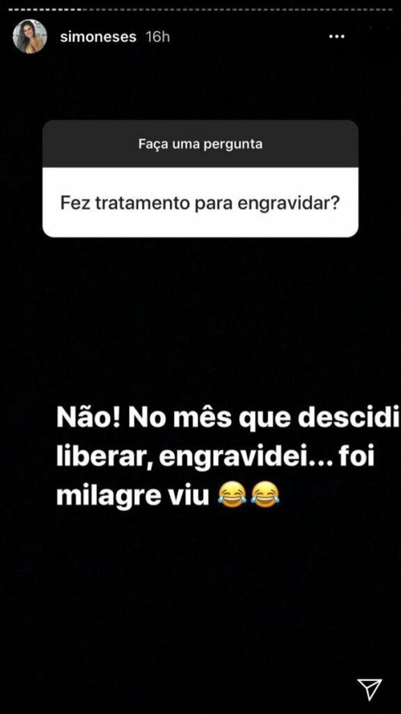"Simone fala sobre segunda gravidez com Kaká Diniz: ""Foi milagre"""