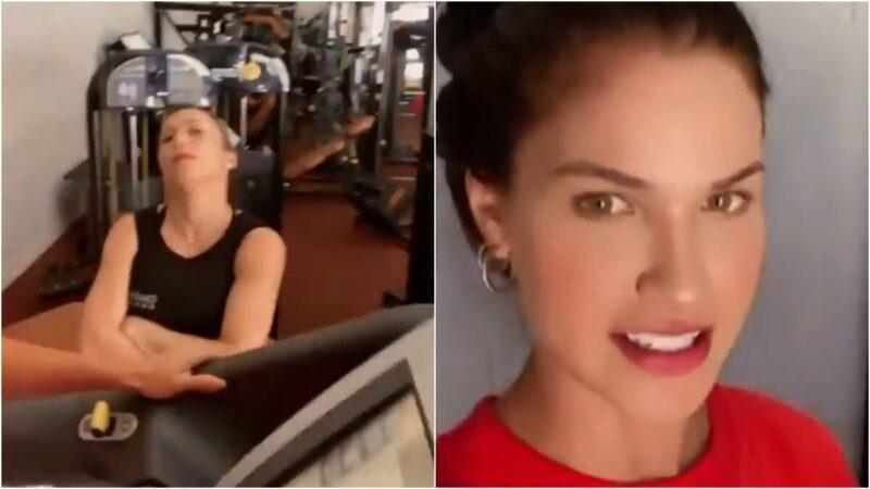 """Em pleno aniversário, Andressa Suita treina com personal na academia: """"Tudo ao contrário"""""""