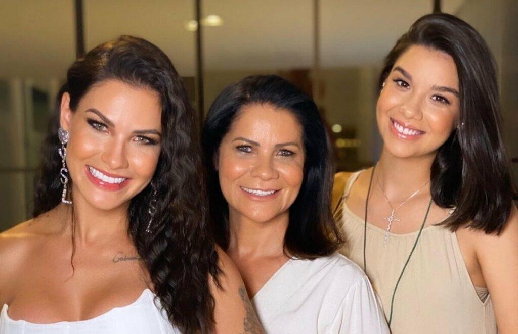 """Mãe de Andressa Suita se pronuncia sobre gravidez da filha caçula, Luara: """"Venha com saúde"""""""