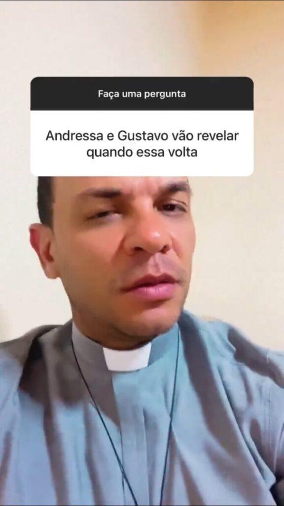 """Padre que casou Andressa Suita e Gusttavo Lima ironiza volta do casal: """"Uai, ainda não revelaram?"""""""