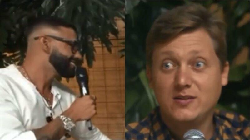 """Gusttavo Lima inveja olhos azuis de sertanejo em live: """"Me empresta eles?"""""""