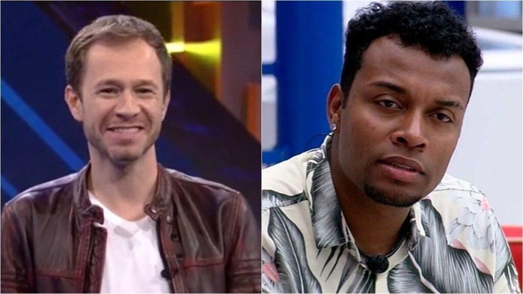 """Ex-BBB Nego Di discorda da explicação de Tiago Leifert em eliminação de Projota e ameaça apresentador: """"Vou te pegar"""""""