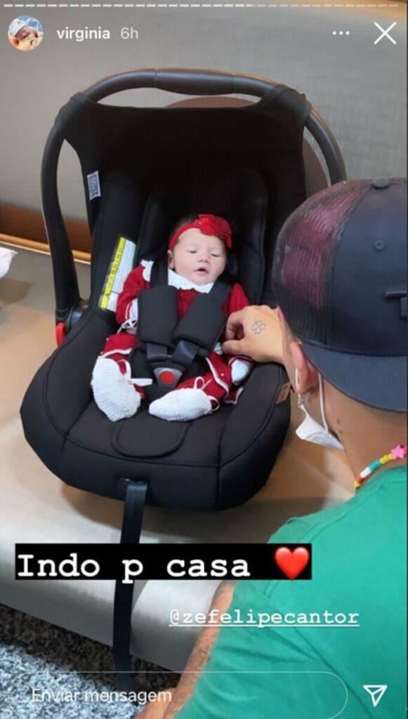 """Zé Felipe elogia Virginia Fonseca após nascimento da filha: """"Aprendeu tudo rápido"""""""