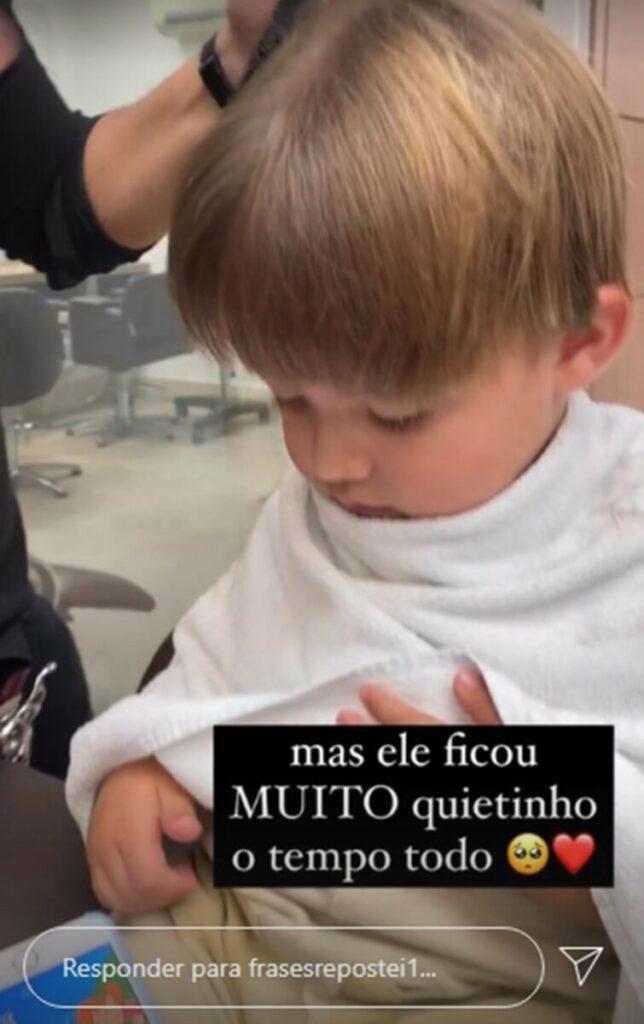 """Gabi Brandt se revolta com críticas após cortar cabelo do filho: """"Crente não tem um dia de paz"""""""