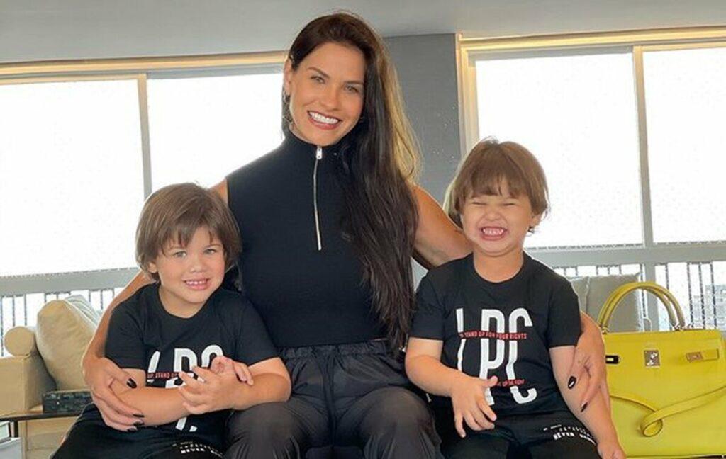 """Andressa Suita faz alerta para as mães sobre virose em crianças: """"Um irmão passou para o outro"""""""