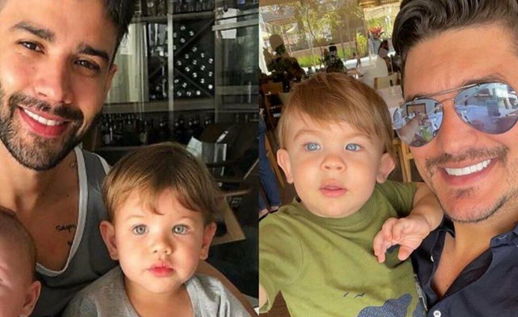 Sertanejo revela semelhança do filho dele com o primogênito de Gusttavo Lima e Andressa Suita