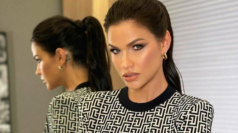 """Andressa Suita recebe elogio da namorada de Jonas Esticado após surgir com vestido colado: """"Perfeita"""""""